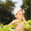 Boy in nature — Stock Photo