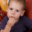Boy eating — Stock Photo #5127481