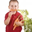 Children and carrots — Stock Photo