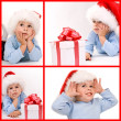 Baby in santa hat — Stock Photo #5127560