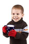 Boy with cup — Stock Photo