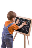 Boy drawing — Stock Photo
