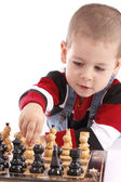 Childre playing chess — Stockfoto