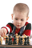 Childre playing chess — Foto Stock