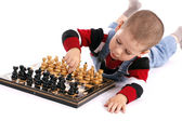 Childre playing chess — Stok fotoğraf