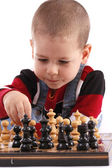 Childre playing chess — Stock Photo