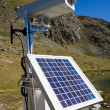 Solarpanel and webcam in the alps — Stock Photo