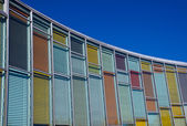 Colourful glass facade — Stock Photo