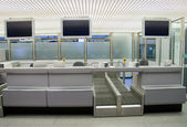 Check in counter at the airport — Stock Photo