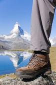 Buty na matterhorn — Zdjęcie stockowe