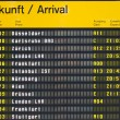Arrival board at an airport — Stock Photo #4427549
