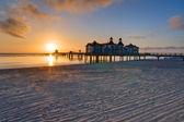 Sunrise at the baltic sea — Stock Photo