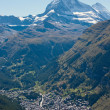 Stock Photo: Matterhorn towering over Zermatt
