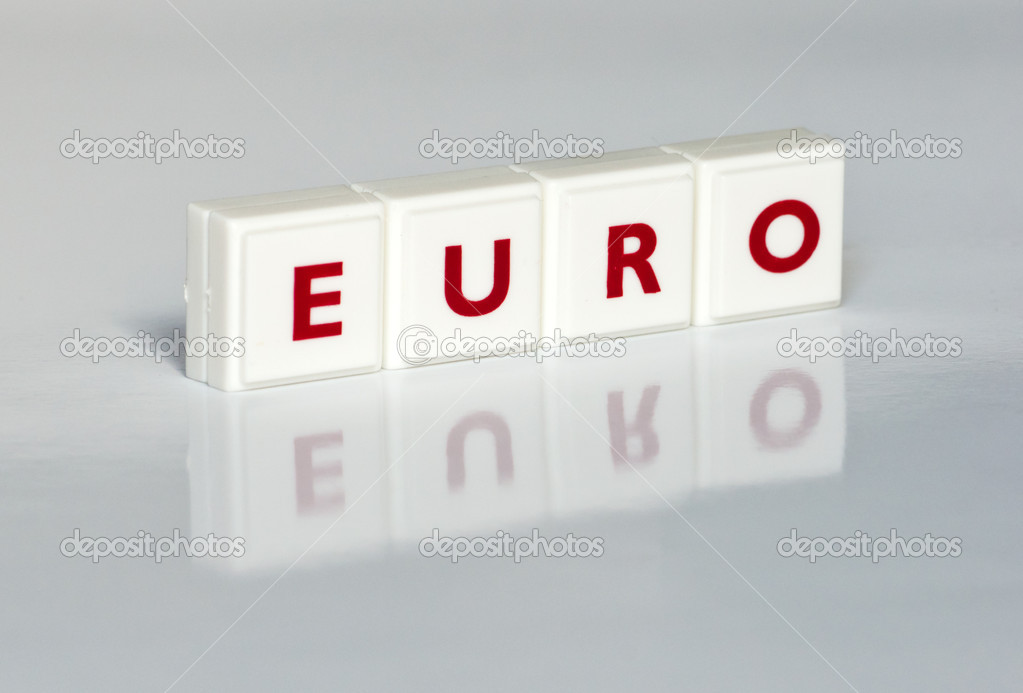 Red letters forming the Word EURO — Stock Photo #5015640