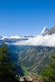 Mattertal and Matterhorn — Stock Photo