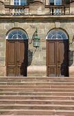 Vstupní dveře do starého hradu — Stock fotografie