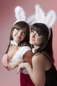 Bunny girls — Stock Photo