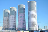 Modern high-rise apartment buildings in Moscow. — Stock Photo