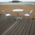 Brighton beach outside dining — Stock Photo #3977018