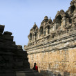 Borobudur temple walls java indonesia — Stock Photo