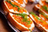パンのキャビア — ストック写真