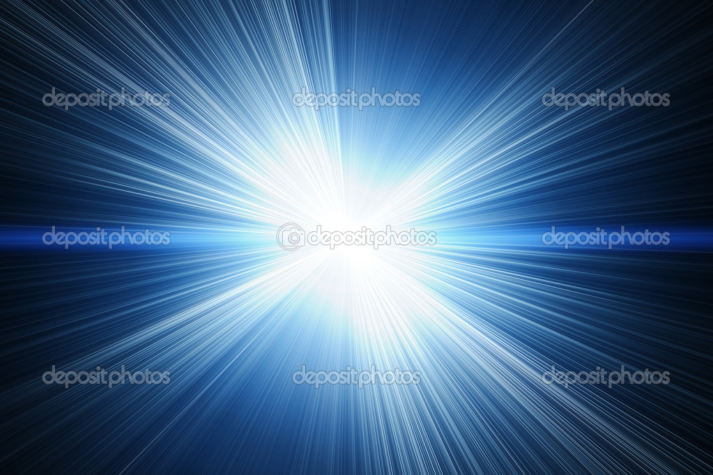 White flash on a blue backgrounds  Stock Photo #4614801