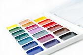 Akvarell färger på vit bakgrund — Stockfoto
