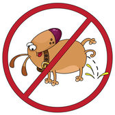 Dog stop — Stock Vector