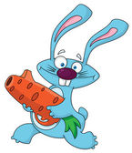 Rabbit with carrot gun — Stock Vector