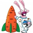 Rabbit astronaut - Stock Vector
