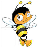 Bee leeg — Stockvector