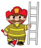Firefighter — Stock Vector