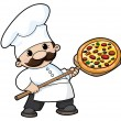 Pizza chef — Stock Vector #4258071