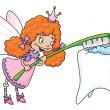 Stock Vector: Cute tooth fairy