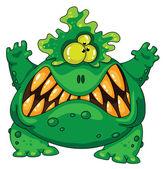 Terrible green monster — Stock Vector