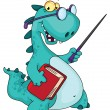 Stock Vector: Teacher dinosaur