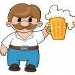 Stock Vector: Man with beer