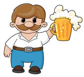 Man with beer — Stock Vector