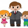 Father and children - Stock Vector