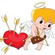 Stock Vector: Cute Cupid