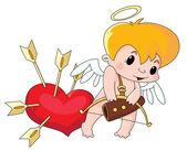 Cute Cupid — Stock Vector