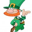 Stock Vector: Funny Leprechaun