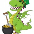 Stock Vector: Dragon Leprechaun