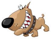 Dog smile — Stock Vector