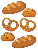 Prodotti di pane — Vettoriale Stock