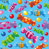 Seamless pattern candies blue — Stock Vector