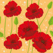 Seamless poppies — Stock Vector