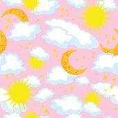 Luna y sol transparente — Vector de stock