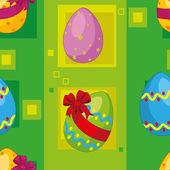 Bezešvé velikonoční vajíčka — Stock vektor