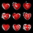 Set of hearts — Stock Vector #3971889
